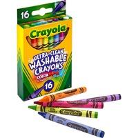 Crayola Washable Crayons, Regular, 8 Colors, 16/Box CYO526916