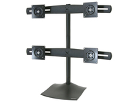Ergotron DS100 Quad-Monitor Desk Stand - Up to 124lb - Up to 24IN Flat Panel Display - Black (33-324-200)