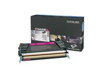 Lexmark Magenta Toner Cartridge - Laser - 6000 Page - Magenta (C734A2MG)