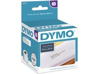 Dymo White Address Labels - Permanent Adhesive - 3 1/2IN Width x 1 1/8IN Length - Rectangle - Direct Thermal - White (30251)