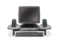 Kensington Adjustable Flat Panel Monitor Stand - Up to 21IN Screen Support - 35 lb Load Capacity - Flat Panel Display (60046)