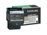 Lexmark C546U1KG Original Toner Cartridge - Laser - 8000 Pages - Black - 1 Each (C546U1KG)