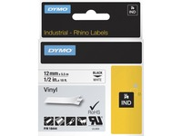 Dymo Rhino Industrial Vinyl Labels - Permanent Adhesive - 15/32IN Width x 18 3/64 ft Length - Rectangle - Thermal Tra (18444)