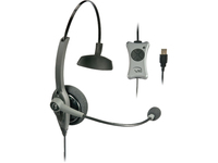VXi TalkPro UC1 Headset - Mono - USB - Wired - Over-the-head - Monaural - Semi-open - Noise Cancelling Microphone (203011)