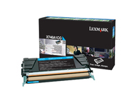 Lexmark Toner Cartridge - Laser - Standard Yield - 7000 Pages - Cyan - 1 Pack (X746A1CG)
