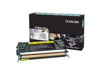 Lexmark Toner Cartridge - Laser - 7000 Pages - Yellow - 1 Pack (X746A1YG)