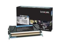 Lexmark Toner Cartridge - Laser - High Yield - 10000 Pages - Cyan - 1 Each (X748H1CG)
