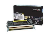 Lexmark Toner Cartridge - Laser - 10000 Pages - Yellow - 1 Each (X748H1YG)