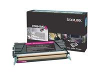 Lexmark Toner Cartridge - Laser - High Yield - 10000 Pages - Magenta - 1 Each (C748H1MG)