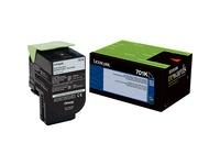 Lexmark Unison 701K Toner Cartridge - Laser - Standard Yield - 1000 Pages - Black - 1 Each (70C10K0)