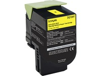 Lexmark Unison 701HY Toner Cartridge - Laser - High Yield - 3000 Pages Yellow - Yellow - 1 Each (70C1HY0)