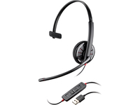 Plantronics Blackwire C310-M Headset - Mono - USB - Wired - Over-the-head - Monaural - Supra-aural - Noise Cancelling (85618-05)