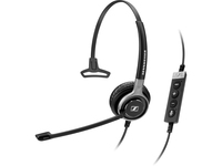 Sennheiser Century SC 630 USB CTRL Wired Mono Headset - Over-the-head - Supra-aural - Black- does not include cable (504554)