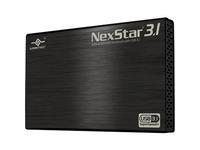 Vantec NexStar 3.1 NST-270A31-BK Drive Enclosure External - Black - 1 x Total Bay - 1 x 2.5IN Bay - Serial ATA/600 - (NST-270A31-BK)