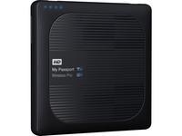 WD 3TB My Passport Wireless Pro Portable External Hard Drive - WiFi AC, SD, USB 3.0 - Wireless LAN - USB 3.0 - 256 MB (WDBSMT0030BBK-NESN)