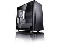 Fractal Design Define C TG Computer Case with Windowed Side Panel - Mid-tower - Black - 5 x Bay - 2 x 4.72IN x Fan(s) (FD-CA-DEF-C-BK-TG)