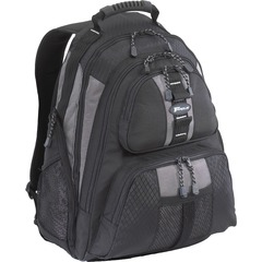 Targus Sport Standard Notebook Case - Backpack - Shoulder Strap - 1, 1, 1 Pocket - Nylon - Black, Silver