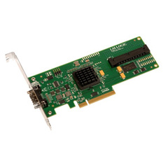 LSI Logic LSISAS3442E-R 8 Port SAS Host Bus Adapter - Up to 300MBps Per Port - 1 x SFF-8470 SAS 300 - Serial Attached SCSI External, 1 x SFF-8484 SAS 300 - Seri