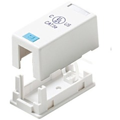 Steren 1 Socket Keystone Surface Mounting Box - 1 x Socket(s) - White