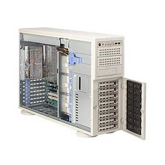 Supermicro A+ Server 4021M-T2R+ Barebone System - nVIDIA MCP55 Pro - Socket F (1207) - Opteron (Dual-core) - 64GB Memory Support - Gigabit Ethernet - 4U Tower