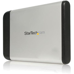 StarTech.com 2.5in Silver USB 2.0 External Hard Drive Enclosure for SATA HDD - 1 x 2.5 - 9.5 mm Height Internal Hot-swappable - USB 2.0 - External - Silver