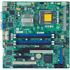 Supermicro PDSML-LN1+ Server Motherboard - Intel Chipset - Socket T LGA-775 - Micro ATX - 1 x Processor Support - 8 GB DDR2 SDRAM Maximum RAM - Floppy Controlle