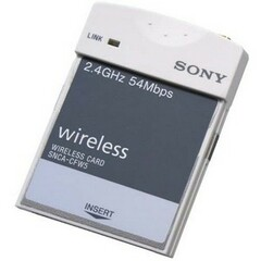 Sony SNCACFW5 IEEE 802.11g Wireless LAN Card Adapter - PC Card Type II - 54Mbps