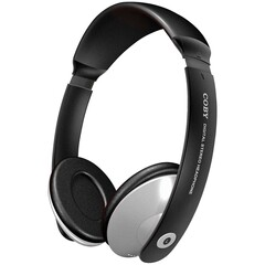 Coby CV-121 Deep Bass Stereo Headphone - Stereo - Black, White