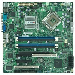 Supermicro X7SBL-LN2 Desktop Motherboard - Intel Chipset - Socket T LGA-775 - Micro ATX - 1 x Processor Support - 8 GB DDR2 SDRAM Maximum RAM - Floppy Controlle