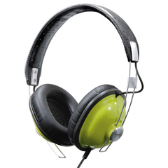 Panasonic RP-HTX7 Stereo Headphone - Connectivity: Wired - Stereo - Over-the-head - Green