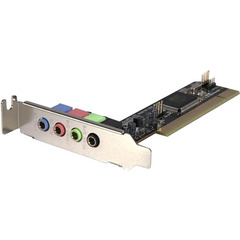 StarTech.com 4 Channel Low Profile PCI Sound Adapter Card AC97 3D Audio Effects - PCI - Internal