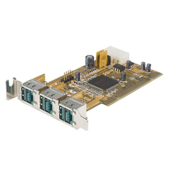 StarTech.com 3 Port Low Profile PCI 12V PoweredUSB Adapter Card - USB PlusPower - 3 x Male USB 2.0 Powered USB - Plug-in Card