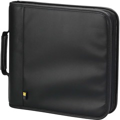 Case Logic CD/DVD Binder - Koskin - Black - 128 CD/DVD