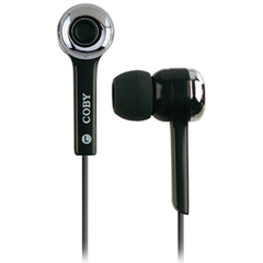 Coby CVE31 Noise Isolating Earphone - Connectivity: Wired - Stereo - Earbud - Black
