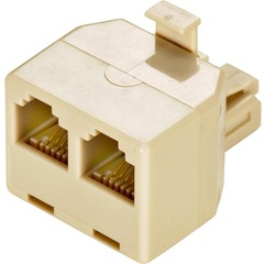 Steren 300-024IV-10 Phone Adapter - 10 Pack - 1 x Phone - 2 x Phone - Ivory