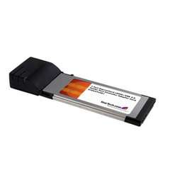 StarTech.com 1 Port ExpressCard Power eSATA Controller Adapter Card - ExpressCard/34 - 1 x Female - External SATA