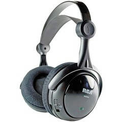 Audiovox RCA WHP141 Wireless Headphone - Connectivity: Wireless - Stereo - Over-the-head - Black