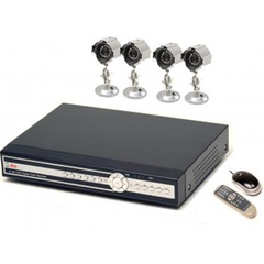 Q-see QSDR44DRTC-320 4-Channel Network Digital Video Recorder - Digital Video Recorder - H.264 Formats - 320GB Hard Drive