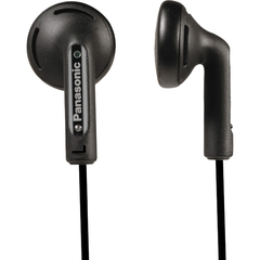 Panasonic RP-HV108 Earphone - Stereo - Black - Mini-phone - Wired - 17 Ohm - 20 Hz 20 kHz - Earbud - Binaural - Open - 3.94 ft Cable
