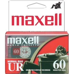 Maxell 109024 Audio Cassette - 2 x 60 Minute - Normal Bias