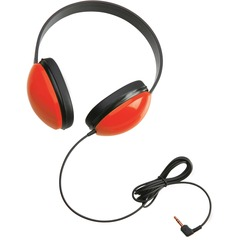 Califone Listening First Stereo Headphone - Stereo - Red - Mini-phone - Wired - 25 Ohm - 20 Hz 20 kHz - Over-the-head - Binaural - Ear-cup - 5.50 ft Cable