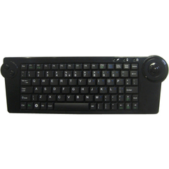 Solidtek Wireless Super Mini Keyboard 2.4G 77 Keys with Trackball Mouse KB-4251B - USB - 77 Key - Trackball - Handheld, PC