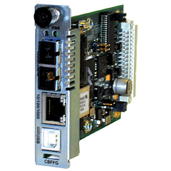 Transition Networks Point System CBFFG1029-105 Network Interface Device - 1 x RJ-45 Network, 1 x SC Network - 10/100/1000Base-T, 1000Base-BX - Internal