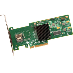 LSI Logic MegaRAID 9240-4i 4-port SAS RAID Controller - Serial Attached SCSI (SAS), Serial ATA/600 - PCI Express 2.0 x8 - Plug-in Card - RAID Supported - 0, 1,