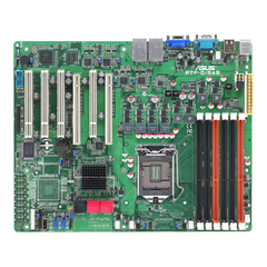 Asus P7F-C/4L Server Motherboard - Intel 3420 Chipset - Socket H LGA-1156 - ATX - 1 x Processor Support - 32 GB DDR3 SDRAM Maximum RAM - Serial ATA/300 RAID Sup
