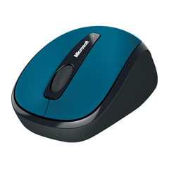 Microsoft 3500 Wireless Mobile Mouse - BlueTrack - Wireless - Radio Frequency - Sea Blue - USB - Scroll Wheel - Symmetrical