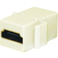 Steren 310-485IV HDMI Keystone Coupler - Gold-plated Connectors - Ivory
