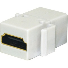 Steren 310-485WH HDMI Keystone Coupler - Gold-plated Connectors - White