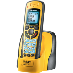 Uniden WXI3077 Cordless Phone - 1.90 GHz - DECT 6.0 - Yellow - 1 x Phone Line - Caller ID - Speakerphone