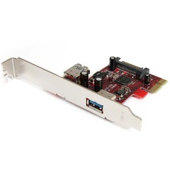 StarTech.com 2 port PCI Express SuperSpeed USB 3.0 Card - 1 Internal 1 External - 1 x Type A Female USB 3.0 USB External